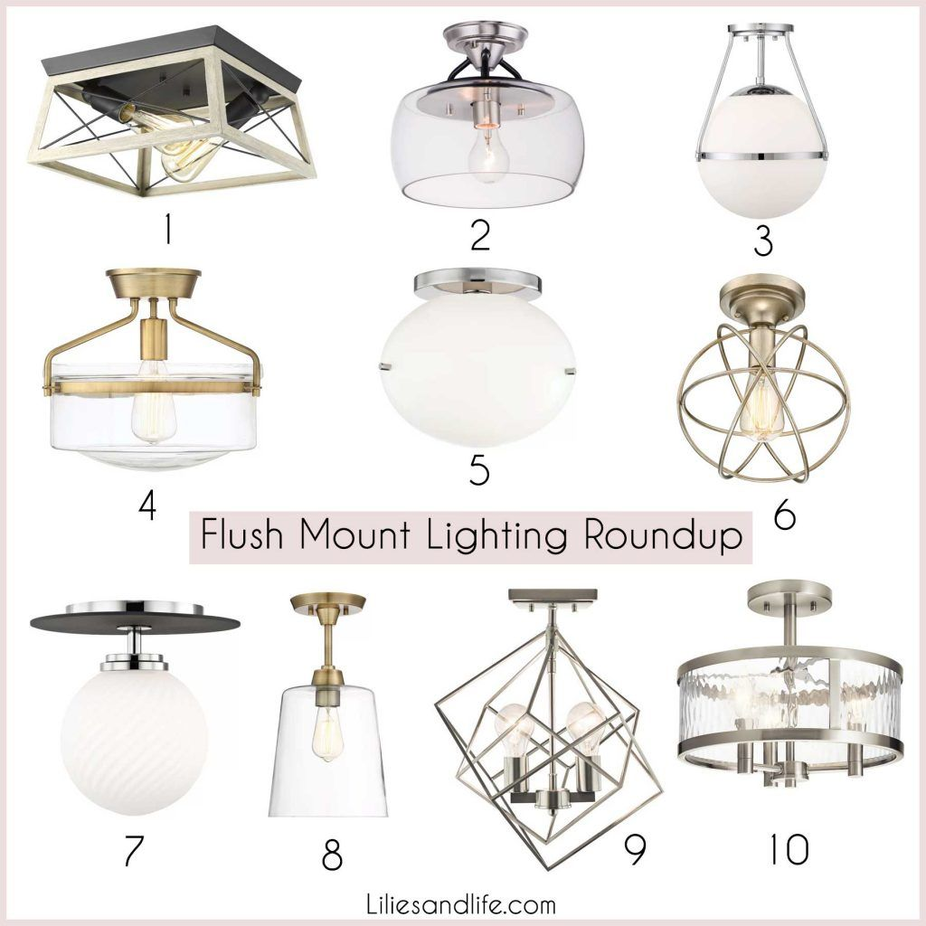 Flush Mount Lighting Roundup  Flush mount lighting, Laundry room