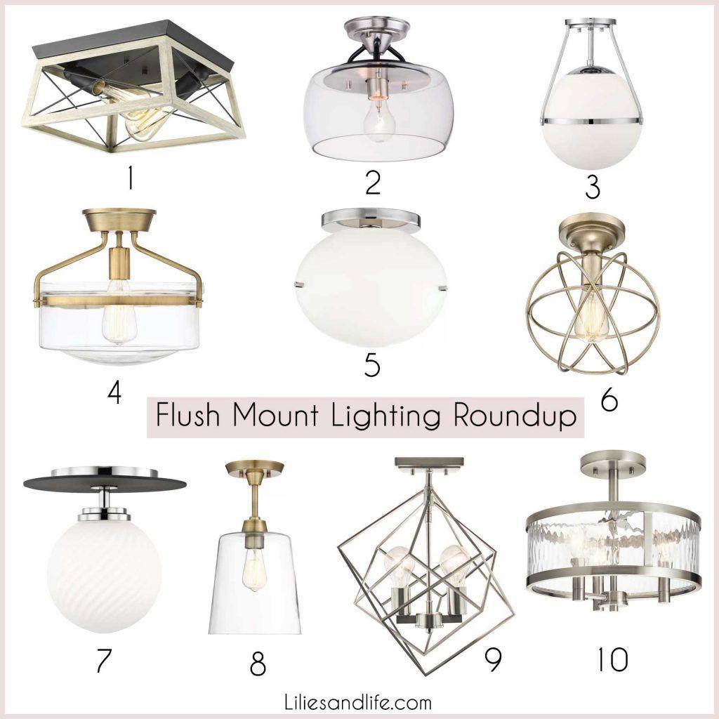 flush mount lighting roundup flush