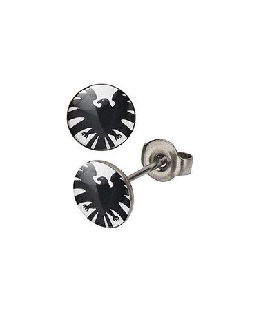 This S.H.I.E.L.D. Stud Earrings by Marvel is perfect! #zulilyfinds