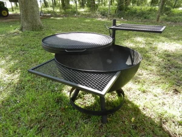 Idea For Expanded Metal Shelf Fire Pit Grill Outdoor Fire
