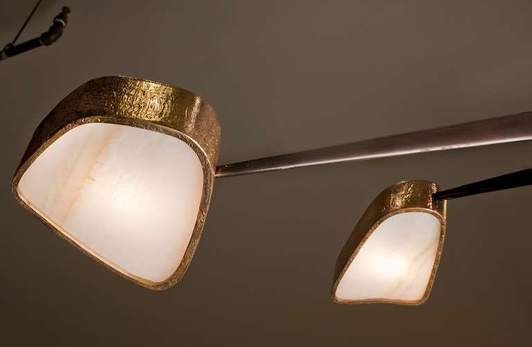 Contemporary Bronze and Onyx 'Spider' Chandelier by Achille