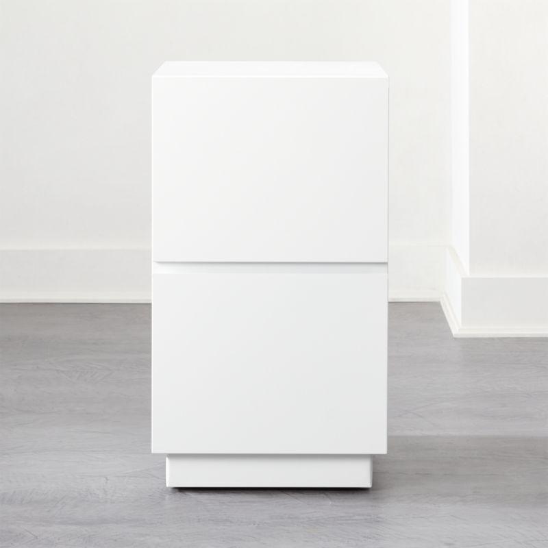 Shop Hudson 2 Drawer White File Cabinet Clean Lined 2 Drawer File Cabinet Rises In White As Simple S Modern File Cabinet Filing Cabinet Modern Storage Cabinet