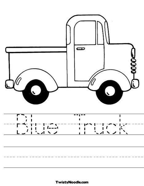 Blue Truck Worksheet Blue Truck Book Preschool Units Themes Little Blue Trucks