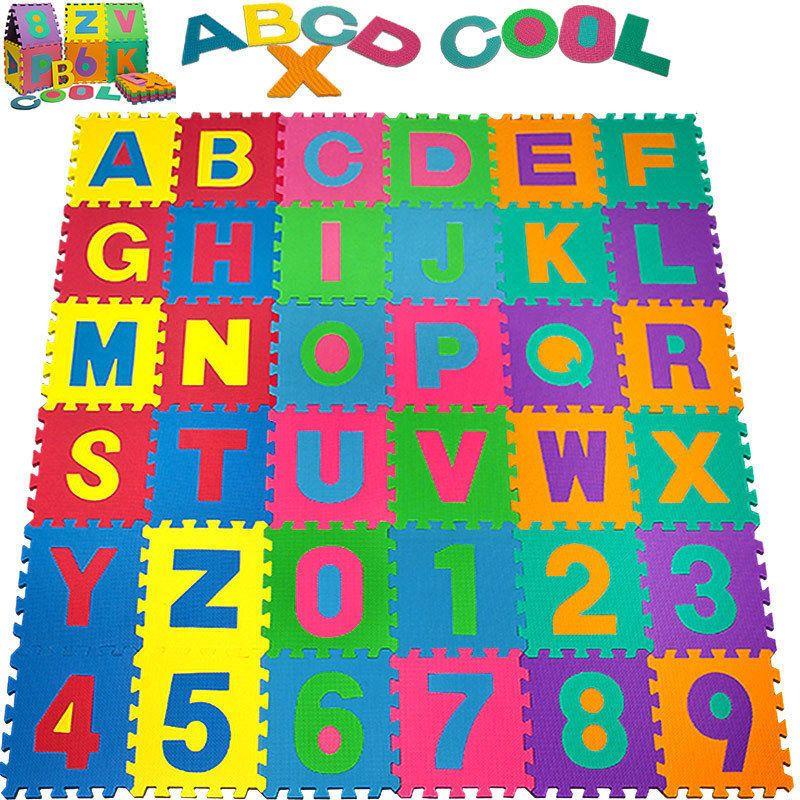 Baby Alphabet Number Foam Exercise Floor Kids Puzzle Play Mat Flooring Tile Game Kids Playmat Playmat Play Mat