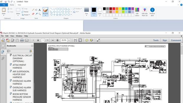 bobcat 864 wiring diagram hitachi zx350lc 6  zx350lcn 6 hydraulic excavator electrical  zx350lcn 6 hydraulic excavator