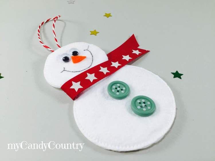 decorazioni di natale fai da te: pupazzi di neve con dischetti