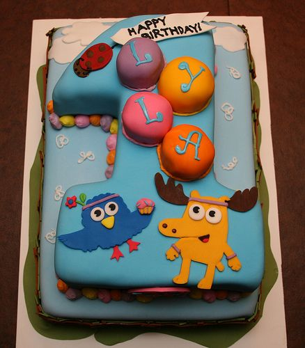 Zee and Moose from Nick Jr number 1 birthday cake so cute and