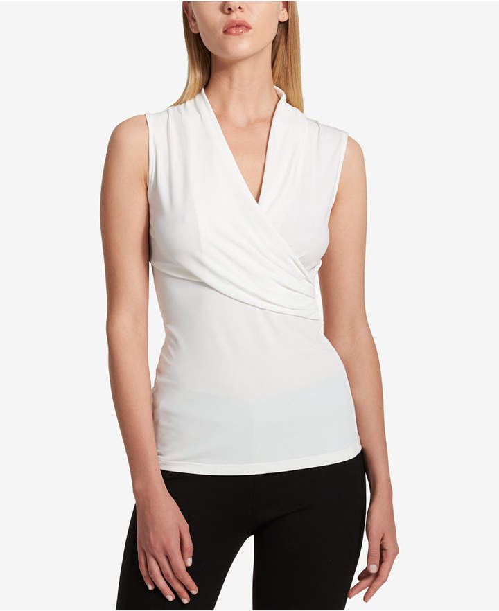 DKNY Sleeveless Ruched Top 0a25fcf3c