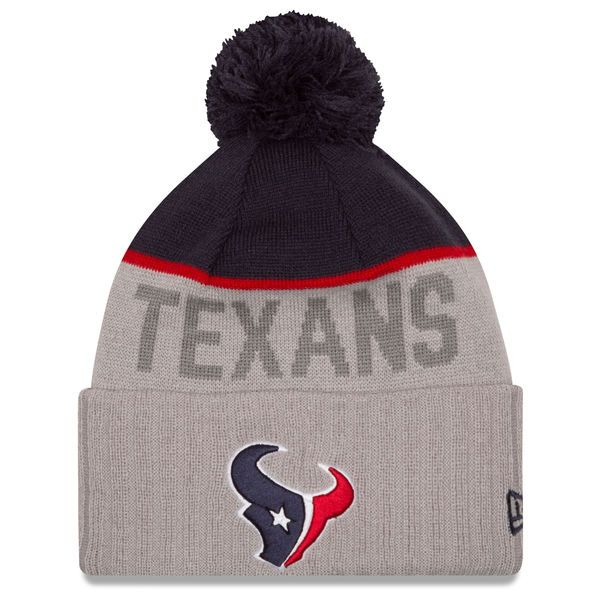 79276f247db Men s Houston Texans New Era Gray Sport Knit Hat