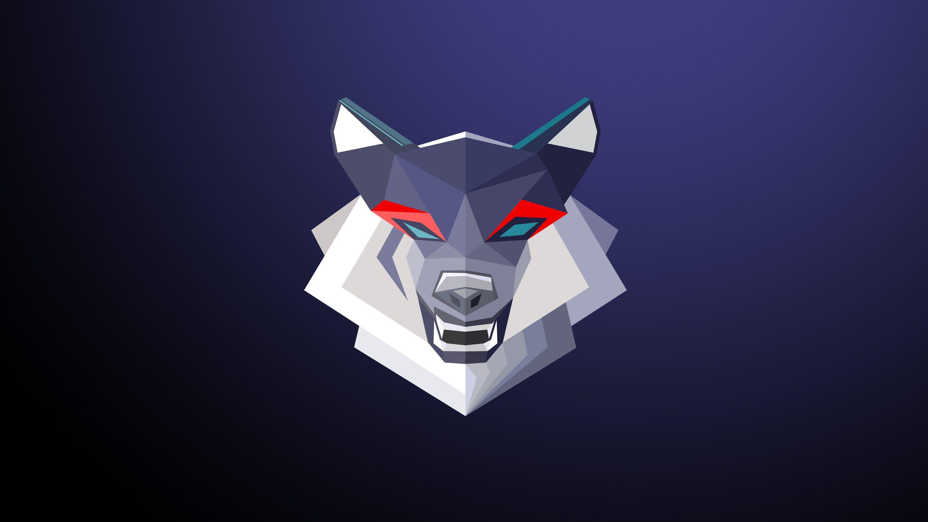 3840x2160 Wolf 4k Pc Wallpaper Free Geometric Art Geometric Wolf Wallpaper Abstract Digital Art
