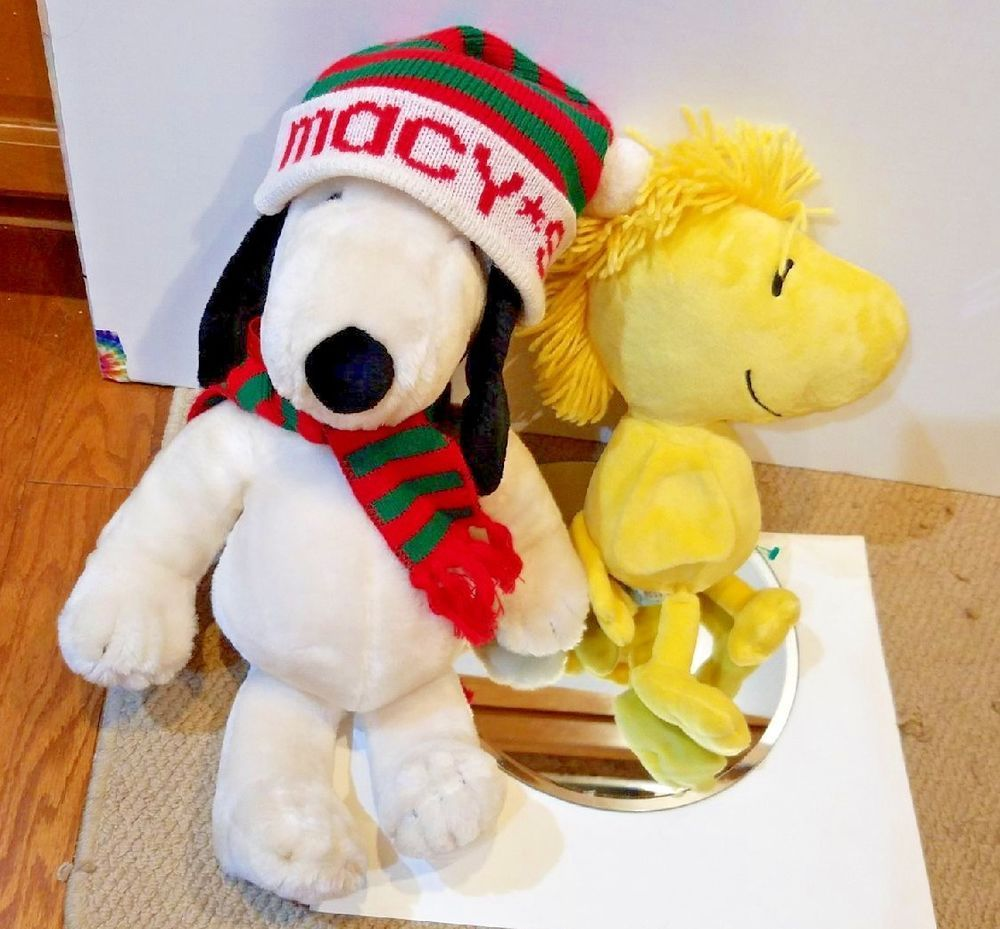 Details About Rare Vintage Plush Lot Macy S Snoopy Woodstock