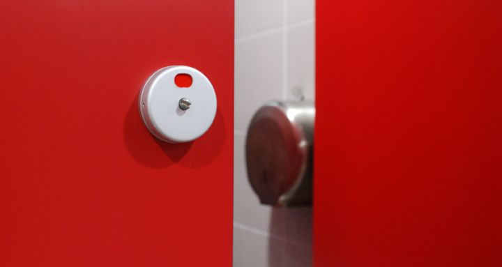 Pilaster Mounted Cubicle Lock Indicator Bolt Replace Toilet Toilet Cubicle Cubicle
