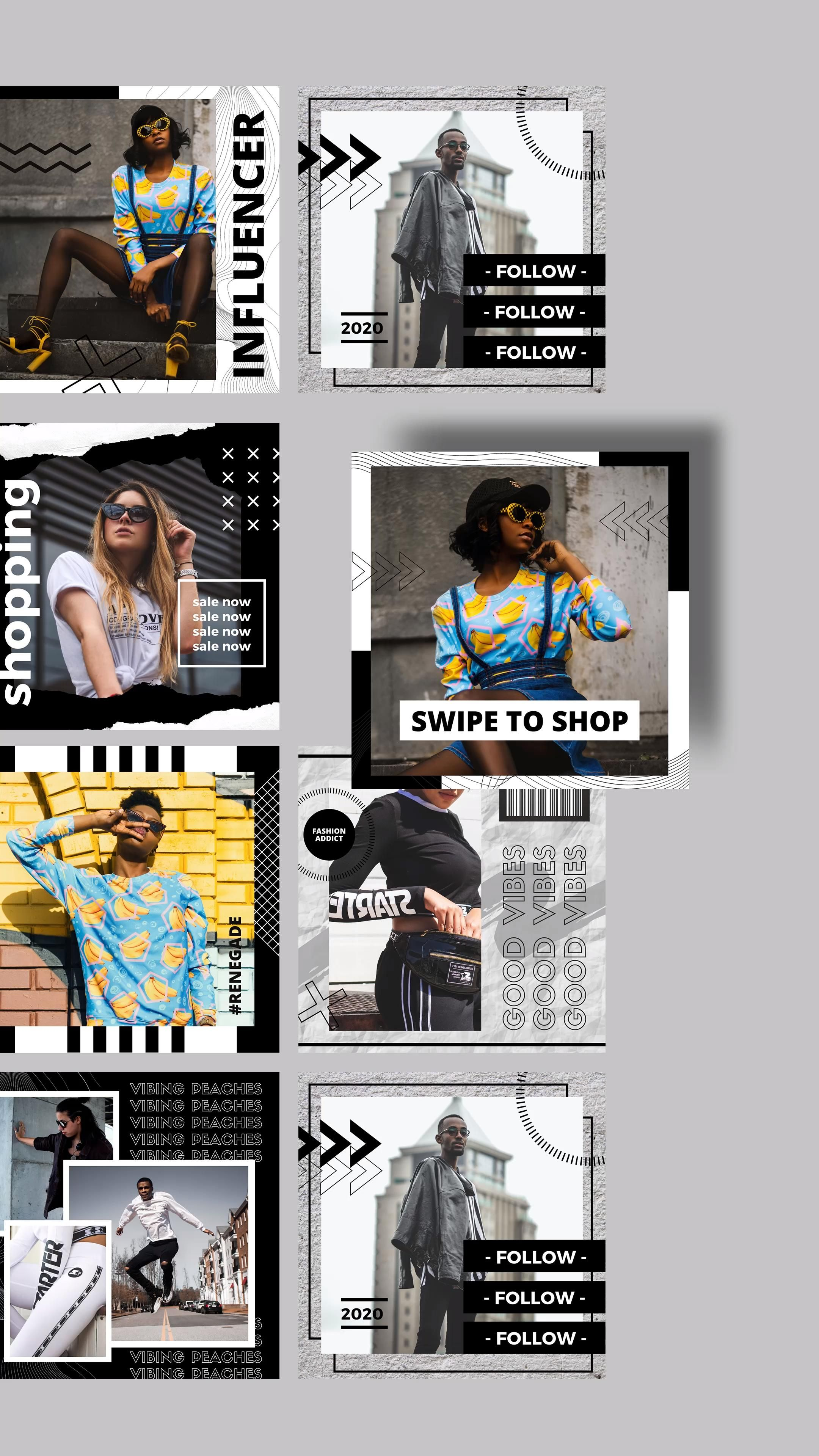 Bold and Edgy Multipurpose Trending Canva Template