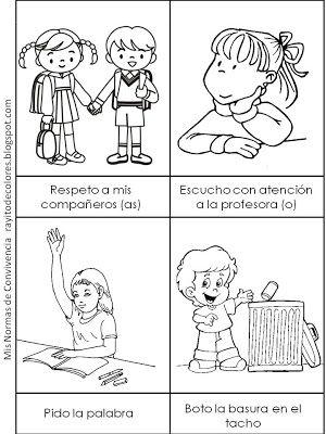 Rayito De Colores Normas De Convivencia En El Aula Normas De Convivencia Imagenes De Convivencia Escolar Dibujos De Convivencia