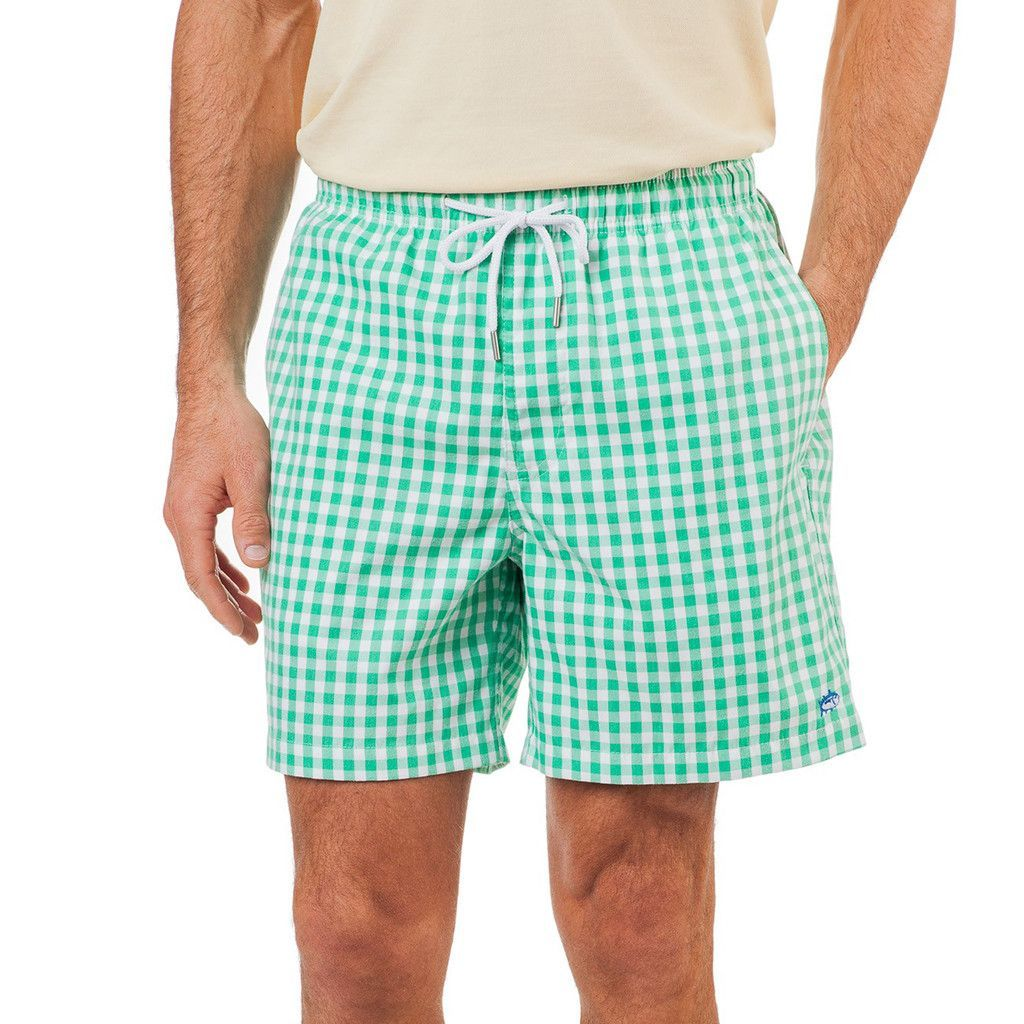 3dca3b6292 Gingham Swim Trunk in Starboard Green by Southern Tide - FINAL ...
