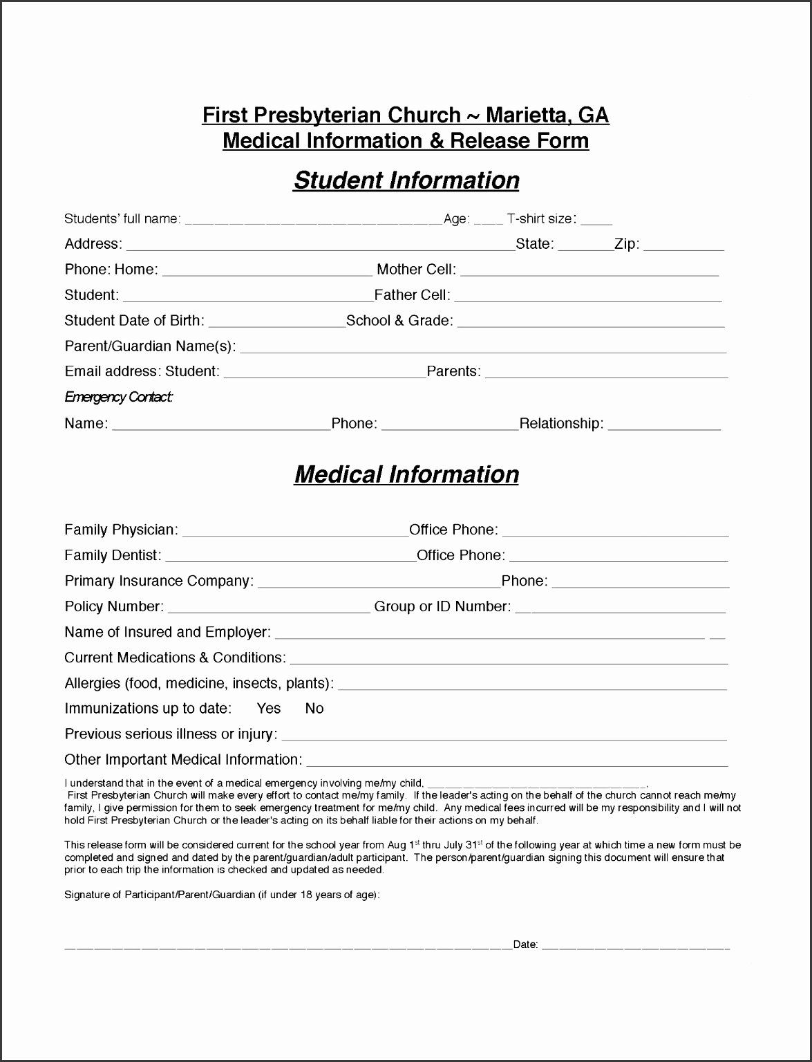Client Information Form Template New 9 Easy To Use Client Information Sheet Template Student Information Templates Medical Information