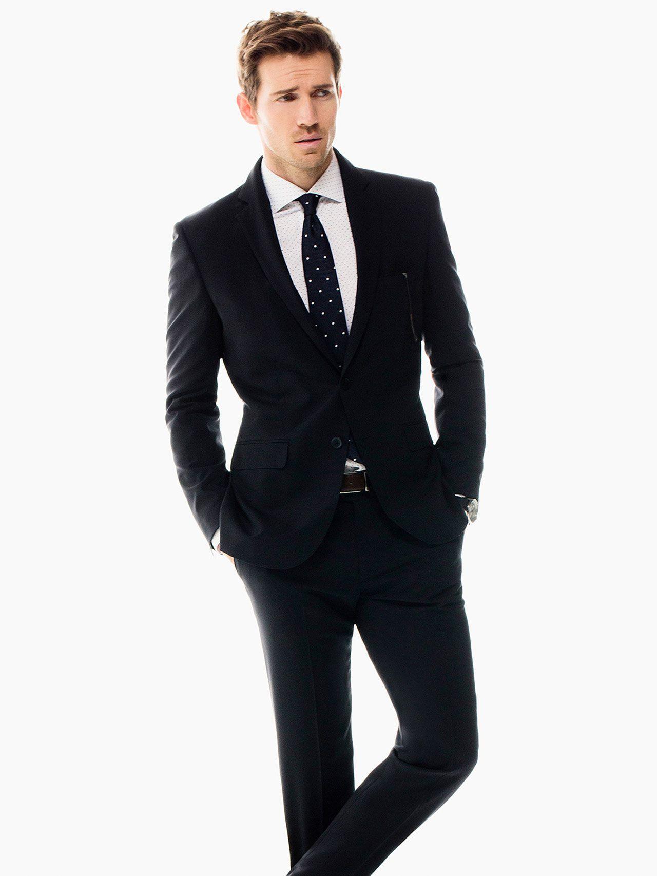 Massimo Dutti Slim Fit Italian Wool Suit Mid Rise Slim Leg Estilo De Hombre Trajes Traje De Novio