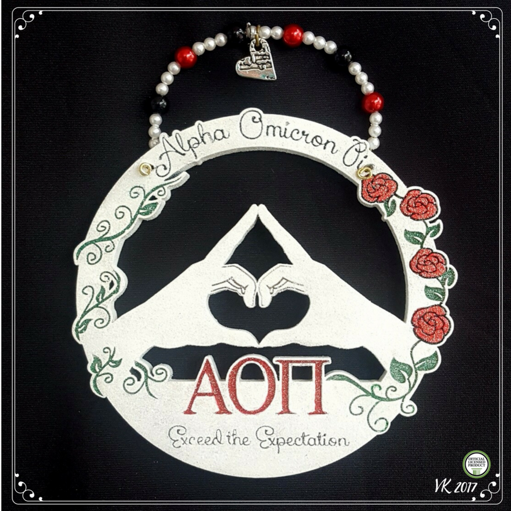 Throw what you know! A great keepsake to treasure your Alpha Omicron Pi sorority memories forever. Also makes a great gift for bid day, big/little, initiation, graduation or just because. ♡ Also avail