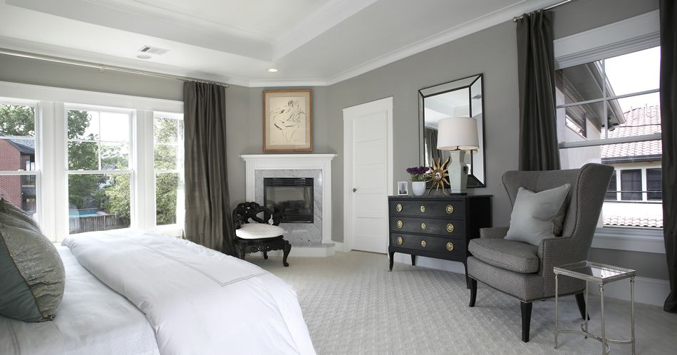 Ashley Goforth Design Portfolio Love Gray Walls White Trim And