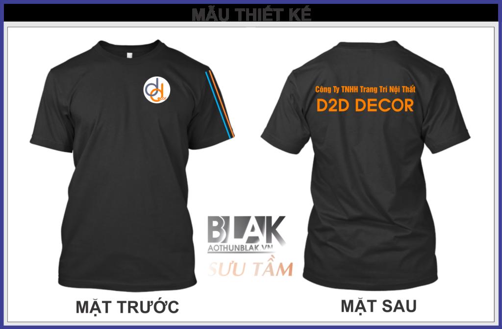 Mẫu áo thun đồng phục công ty Trang trí Nội Thất DTD DECOR - Hình 2