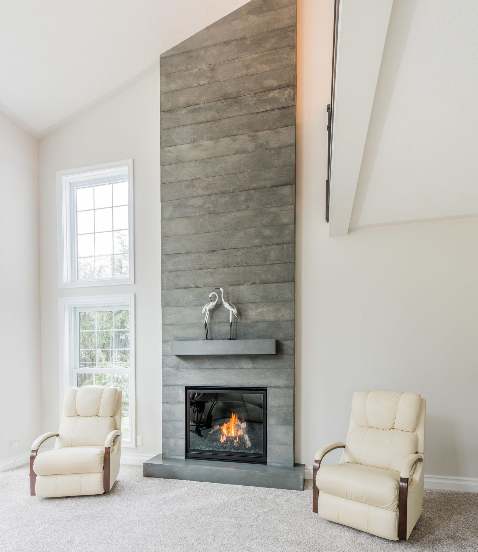 concrete fireplace surround brantford industrial design