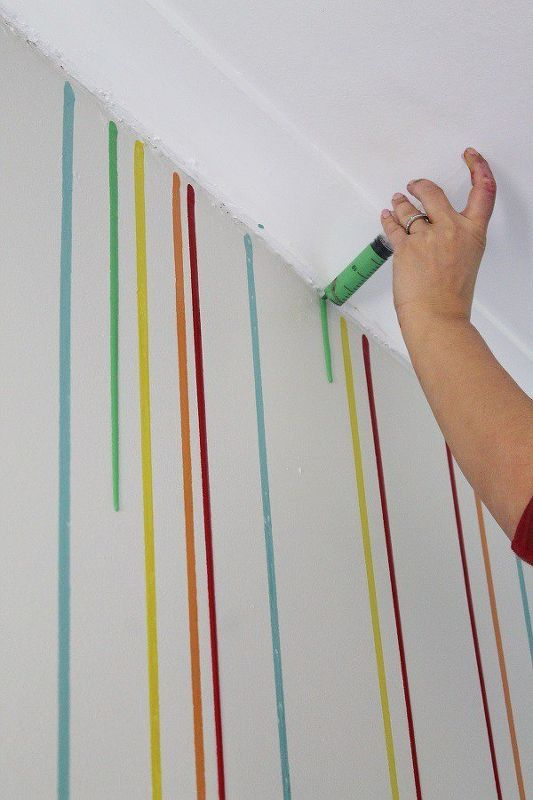 Room Paint Diy Drippy Wall Painting