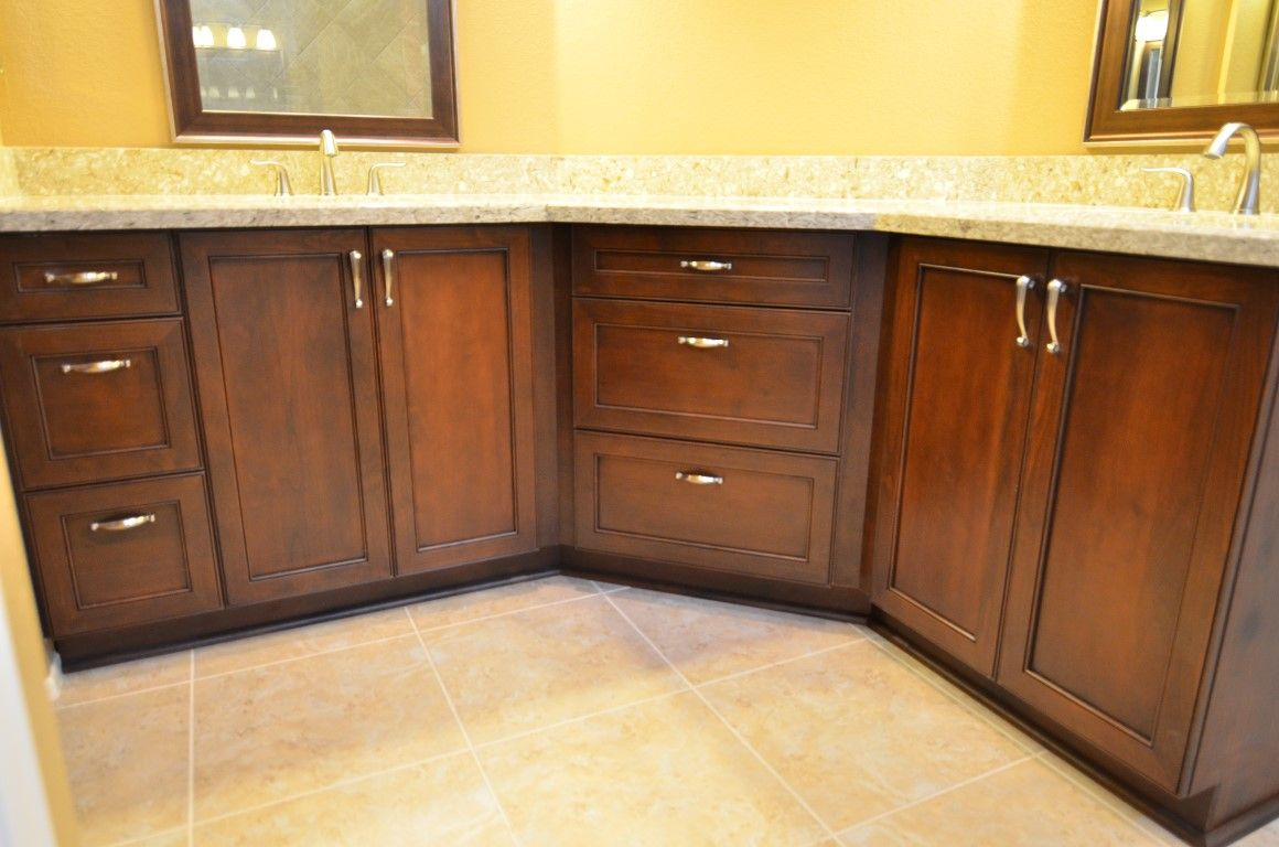 Alder ultracraft cabinets in amherst door style with for Chestnut kitchen cabinets