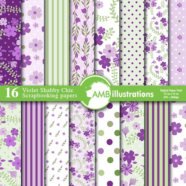Incredible Floral Shabby Chic Papers In Lavender Mygrafico Digital Beutiful Home Inspiration Xortanetmahrainfo