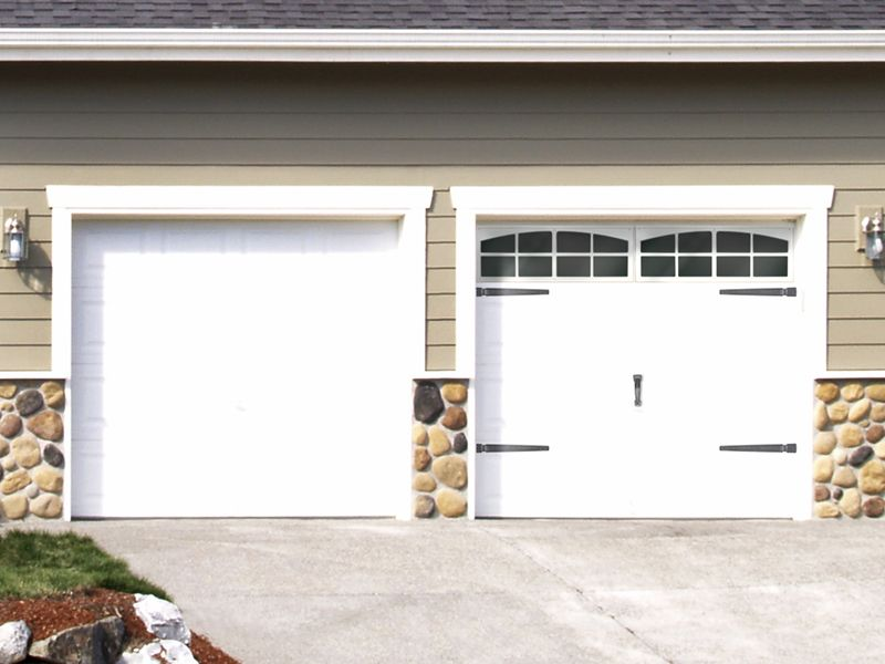 Decorative faux garage door windows hardware kits from for Coach house garage prices