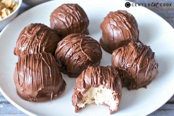 Chocolate cream cheese cake balls recipe