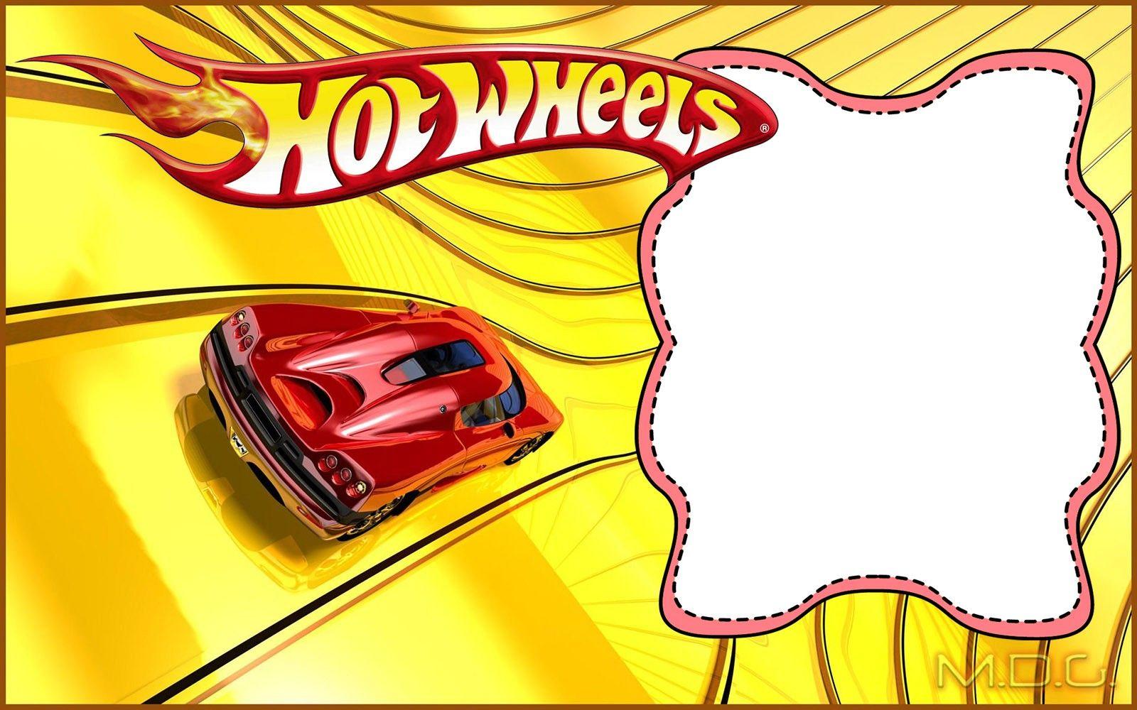 Hot Wheels Party Invitation Card Inv Hot Wheels Party