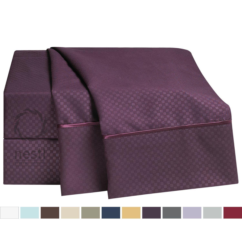 queen eggplant lavish sets set piece p amanda purple comforter home q bedding