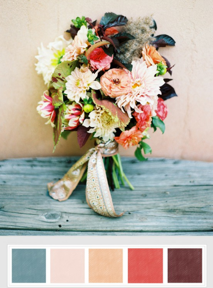 autumn bouquet---- YES YES YES! except maybe switch that dark color on the right with light green