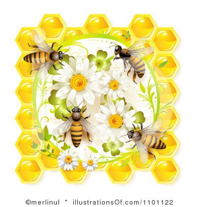 Royalty Free RF Honey Bee Clipart Illustration By Merlinul