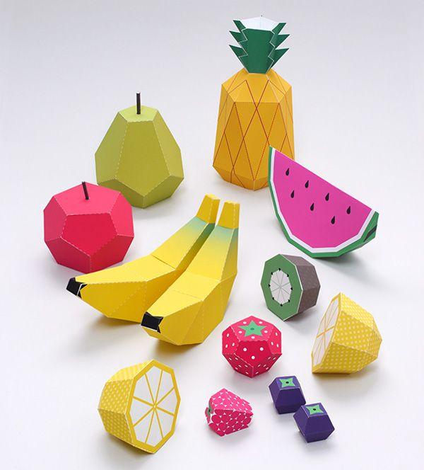 Lavoretti di primavera come creare dei frutti di carta da - Modelli di ghirlanda stampabili ...