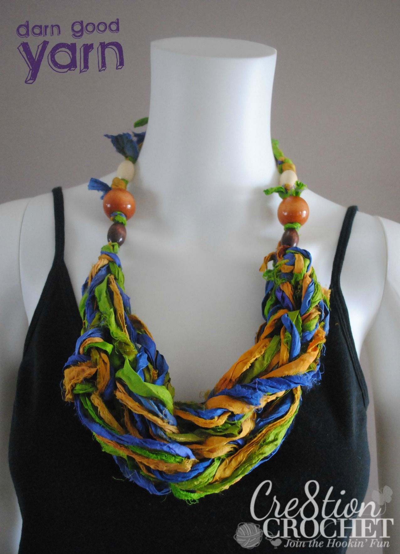 Free arm knit necklace pattern using recycled silk sari ribbon free arm knit necklace pattern using recycled silk sari ribbon from darn good yarn brought to bankloansurffo Images