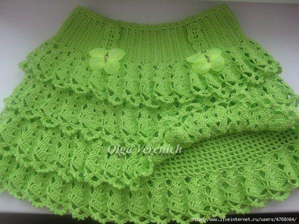5a300ca2e Patron para hacer una falda tejida a crochet para niña | faldas de ...