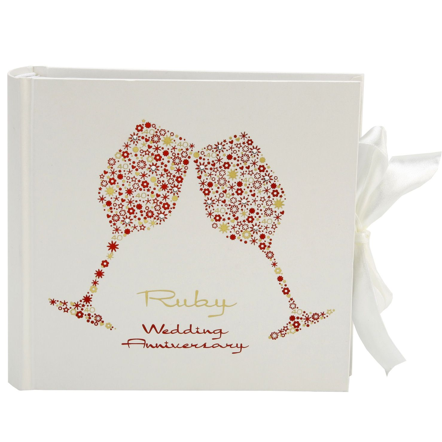 40th Wedding Anniversary Ruby Wedding Anniversary Photo Album