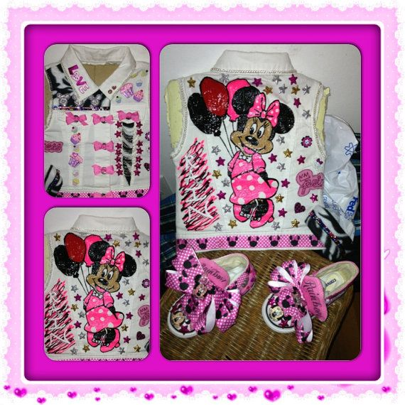 Kids Custom vest and shoes any style character or by inkdropz, $65.00