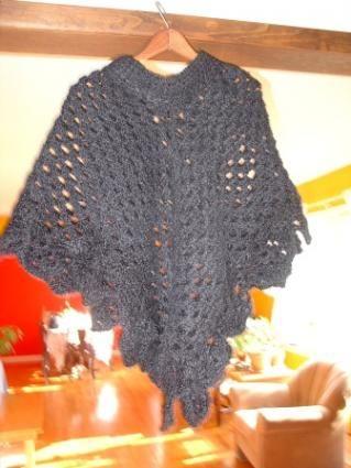 Free Crochet Poncho Pattern | Häkeln und Stricken
