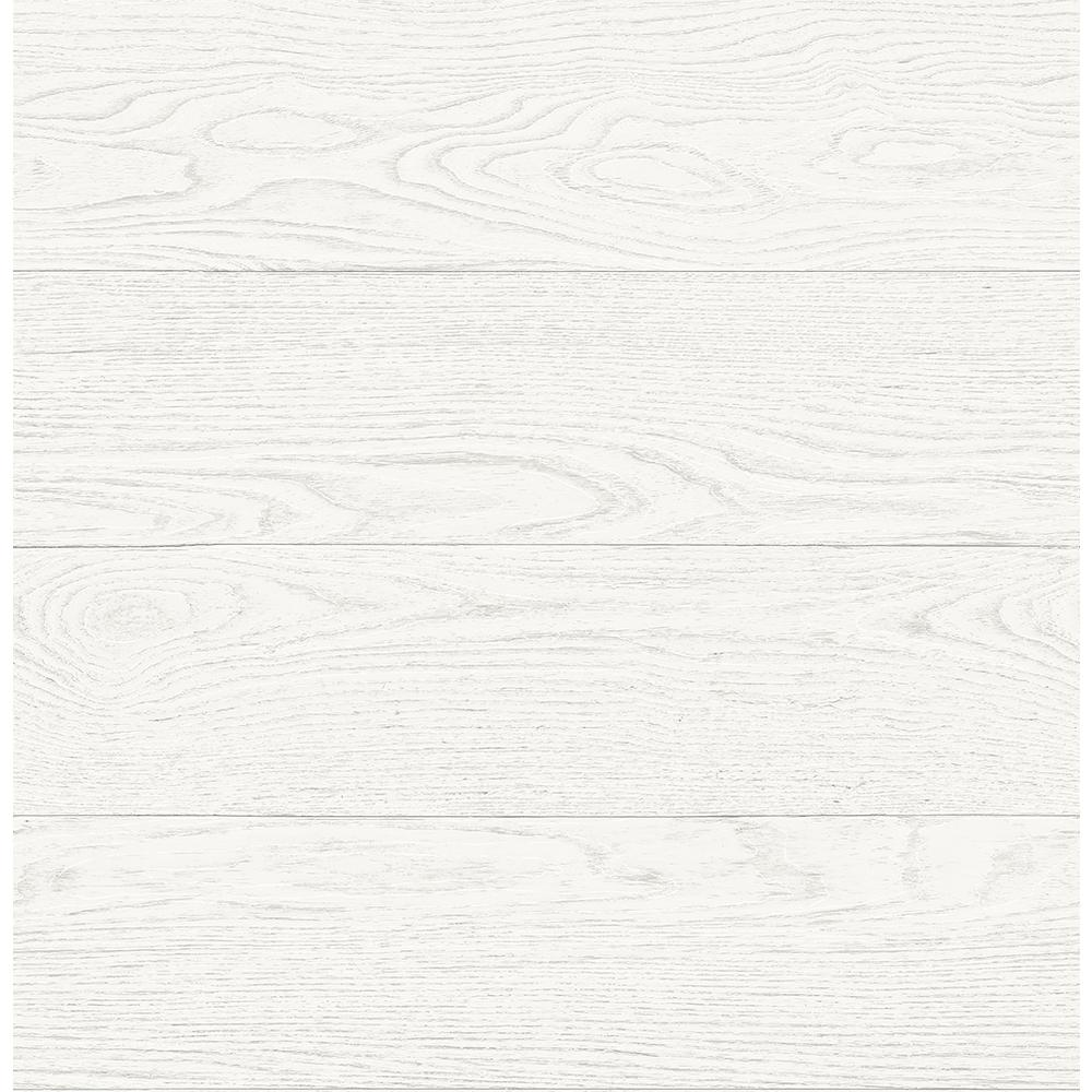 AStreet Salvaged Wood White Plank Wallpaper Sample