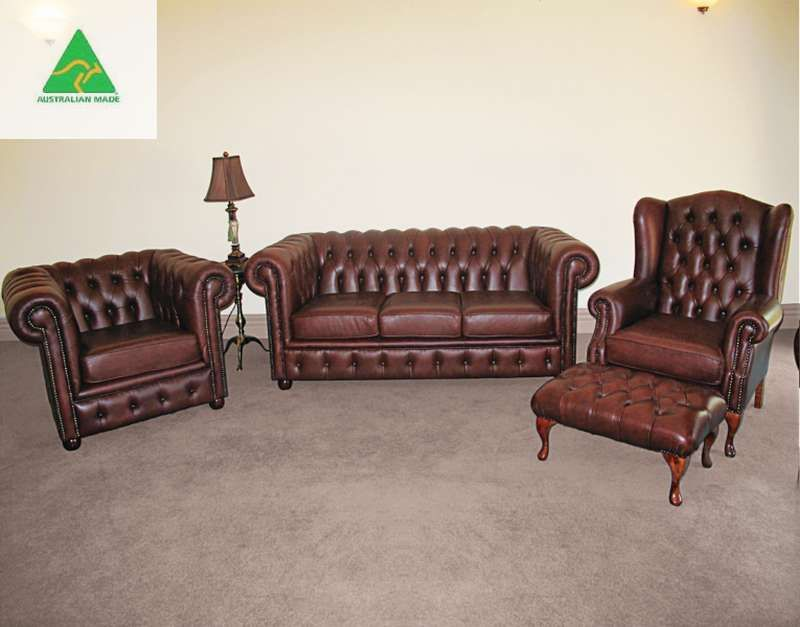 """""""Lech"""" Chesterfield Lounge Suite  $AUD 4500"""