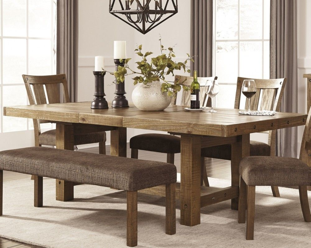 Tamilo Gray Brown Rect Dining Room Ext Table D714 45