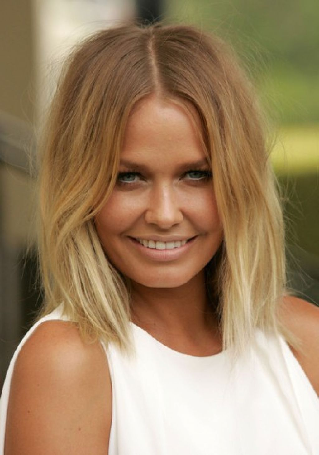 long bob ombre straight natural blonde hairstyles inspirations