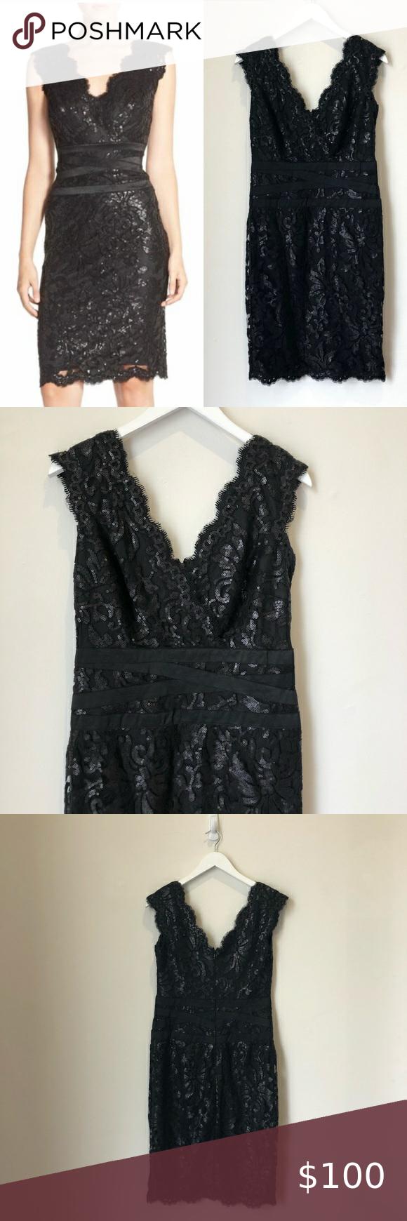Tadashi Shoji Black Sequin Lace Embroidered Dress Tadashi Shoji Black Dress With Floral Embroidered Lac Embroidered Lace Dress Embroidered Dress Applique Dress [ 1740 x 580 Pixel ]