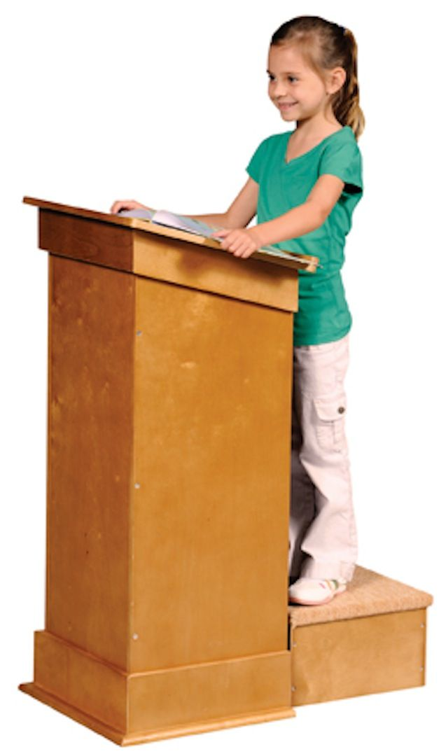 Practice Makes Perfect Kids Will Like Practicing Behind This Lectern It Will Help Take The Fear Out Of Speaking And Help The Lectern Guidecraft Beyond The Rack