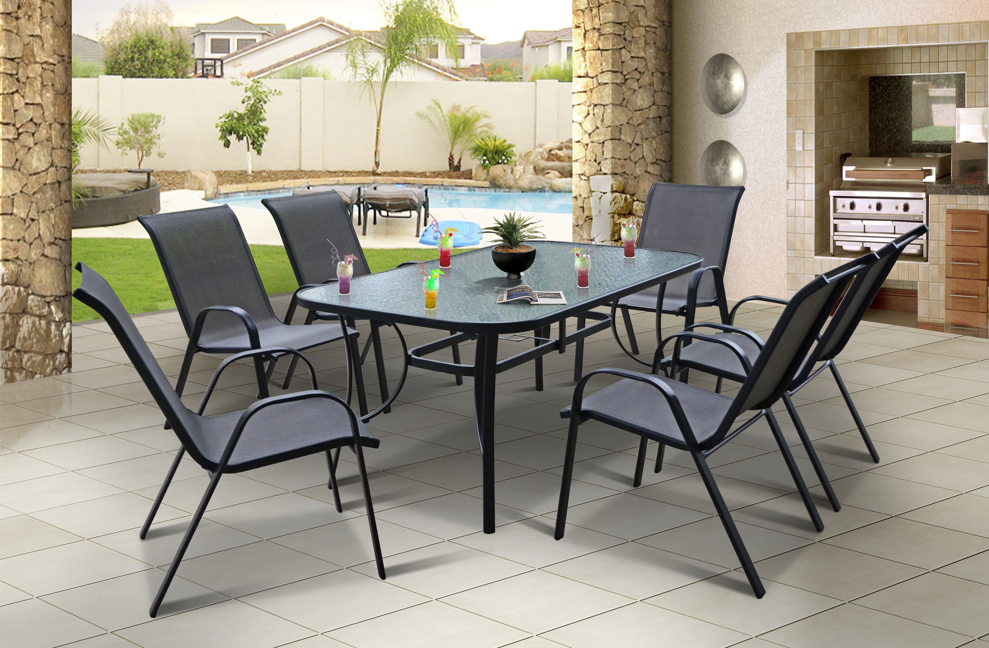 samba 7pce patio suite i fantastic value for money crafted from rh pinterest com