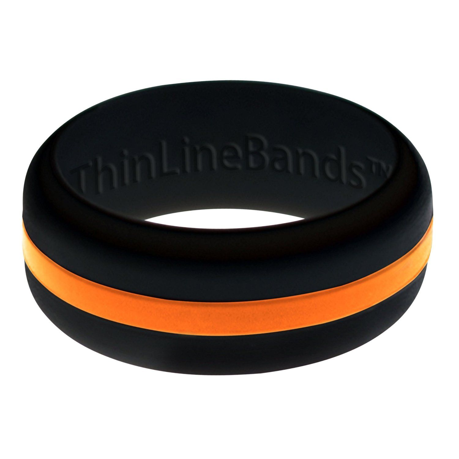 THIN LINE BANDS · Black Ring with Changeable Thin Line · Sizes 4