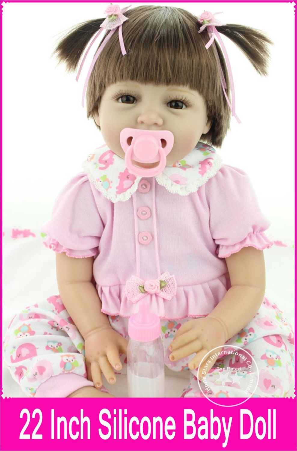 08f5d1f29d Deals for Hot Sales 55cm 22 Inch NPK Dolls Silicone Reborn Baby Girl Doll  Brinquedods Pink Princess Doll Baby Doll Toys for Girls  WtmRs8O9  Black  Friday ...