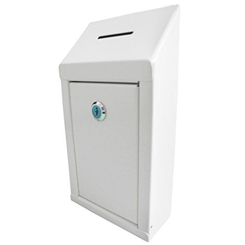 Metal Box Mail Box Secure Collection Box Ticket Box Wall Mount Suggestion Box